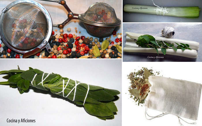 bouquet garni collage