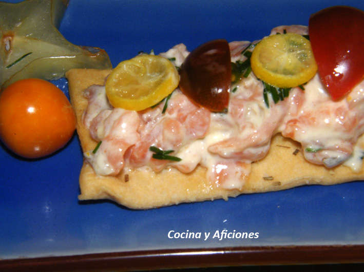 Canape de salmon con mahonesa de citricos 5 cocina y for Canape de salmon