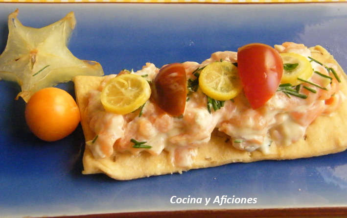 Canape de salmon con mahonesa de citricos 6 cocina y for Canape de salmon