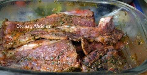carne en adobo de chermoula