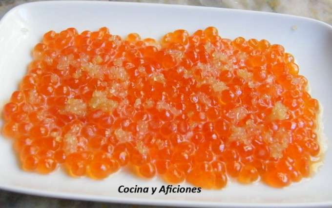 caviar de salmon y caviar citrico