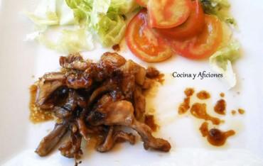 Chuletas de conejo en escabeche con salsa de soja, receta