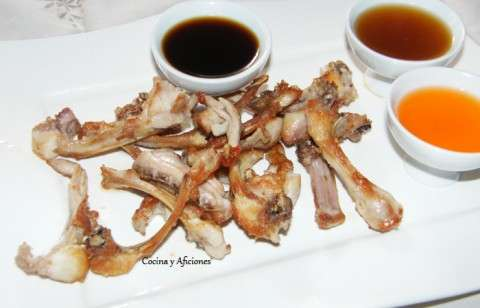 chuletas de conejo con salsas chinas M