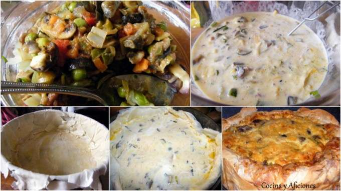 colage tarta verduras