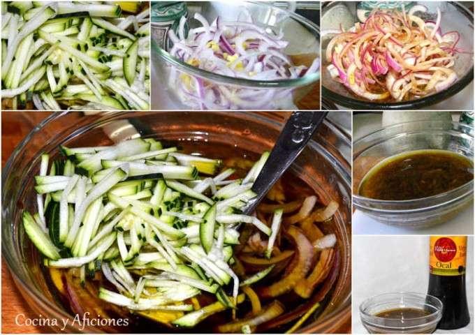 macerando las verduras