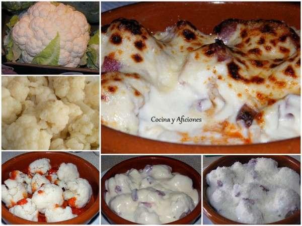 collage coliflor