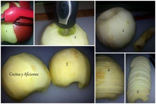 collage cortar manzanas