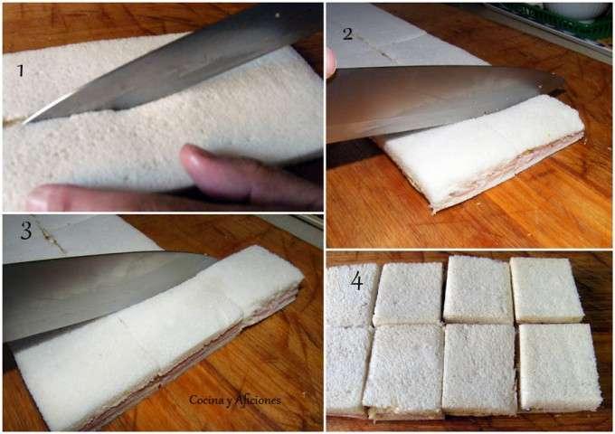 collage corte sanwiches