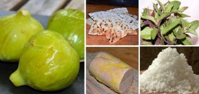collage ingredientes tapa foie e higos