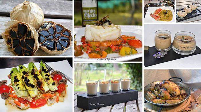 collage recetas ajo negro