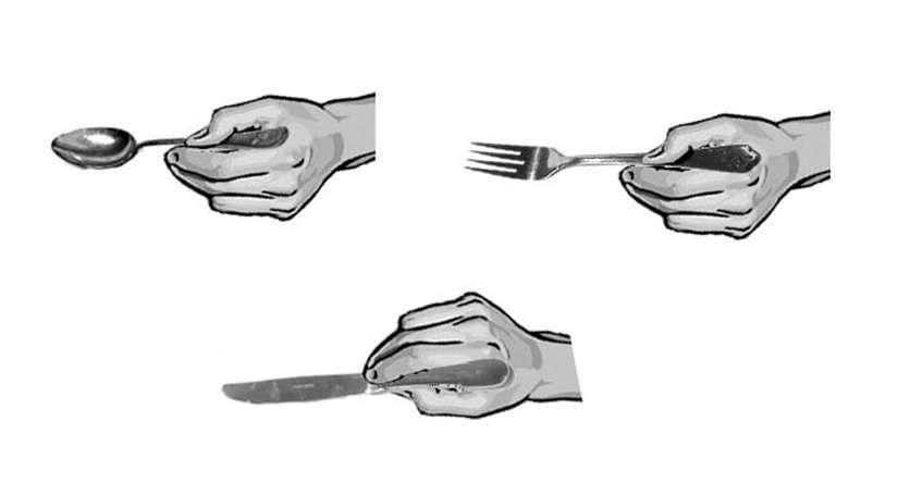 Las buenas maneras en la mesa los cubiertos como for Tenedor y cuchillo en la mesa