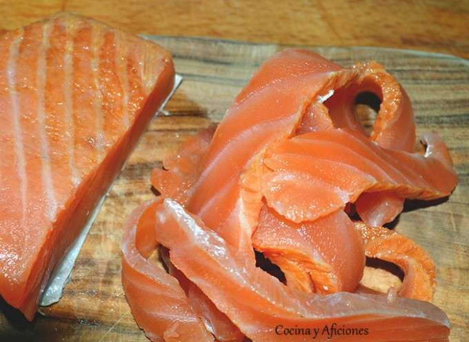 cortar salmon