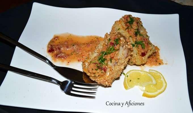 corvina crujiente con salsita 2