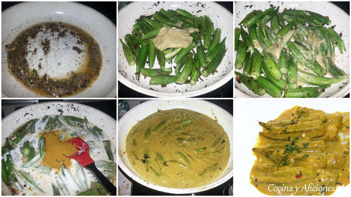 curry de ocra collage