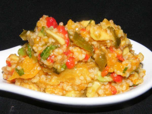 cuscus fruta y verdura mini