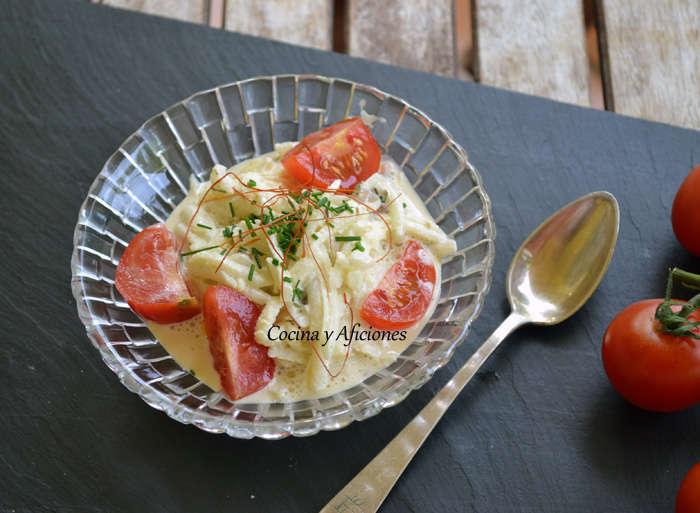 Ensalada de apionabo con salsa remulade, receta paso a paso