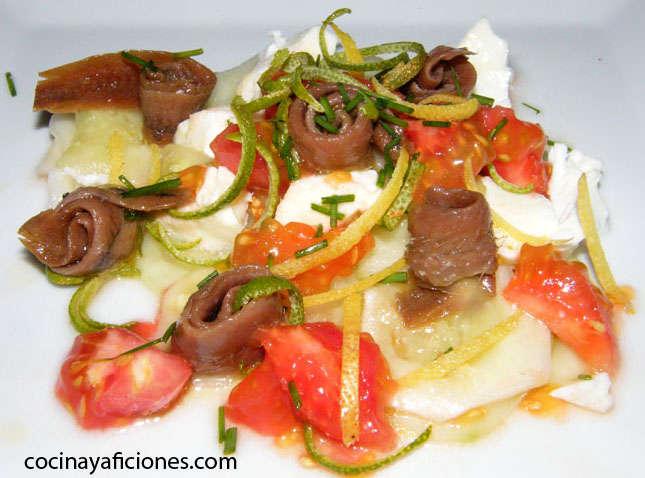 ensalada de pepino con alino de cremefraiche