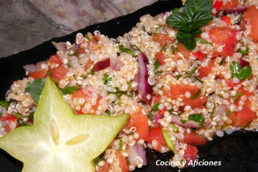 Ensalada de quínoa a las finas hierbas, receta