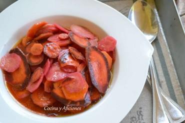 Ensalada de zanahorias, receta paso a paso.