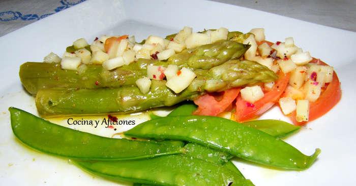 esparragos, tirabeques, tomates y chirivias 1