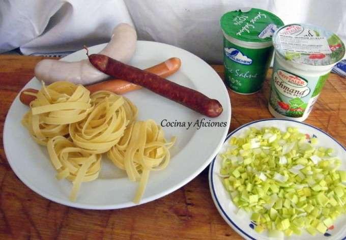 ingredientes pasta a la bavara