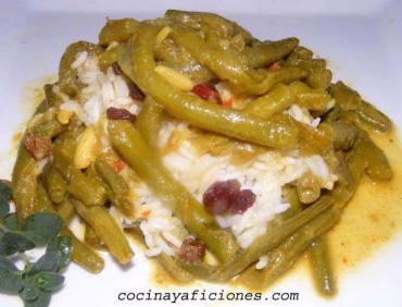 Curry inglés de judías verdes, receta