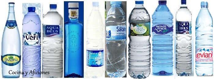 Agua mineral, las diez preferidas por los consumidores españoles, apuntes.