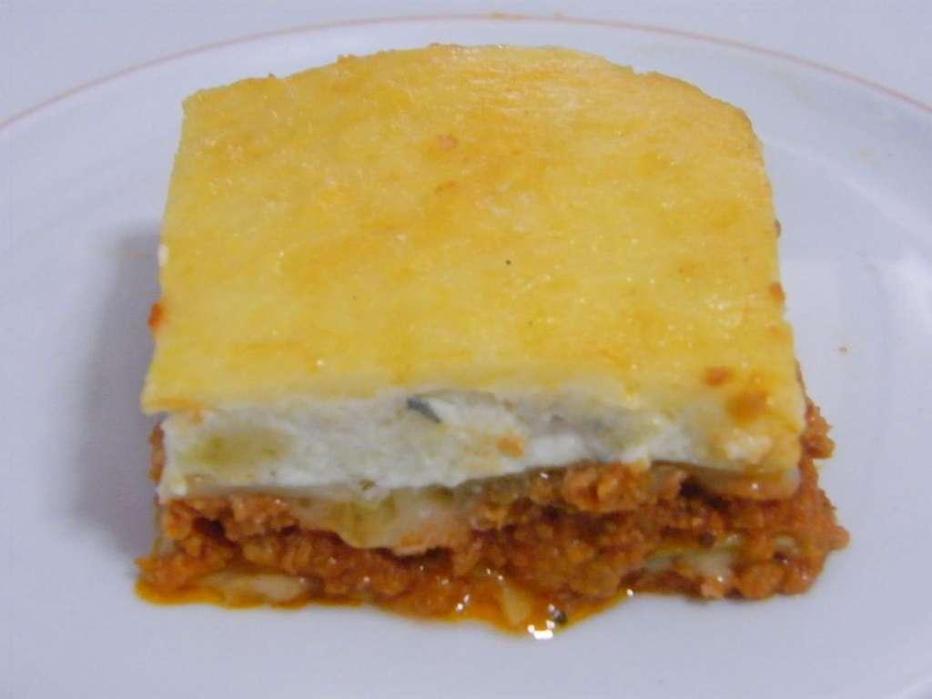 Lasaña boñolesa con queso azul,receta