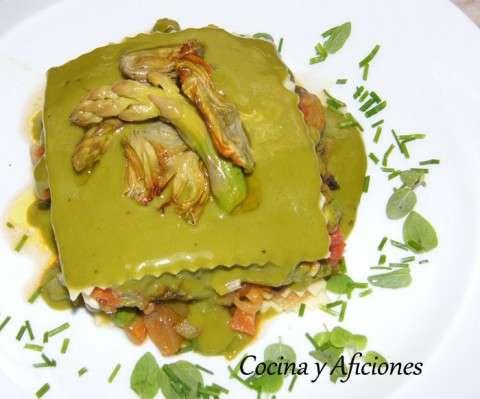 lasagna de verduritas con bechamel de clorofila 11