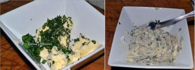 mantequilla de hierbas