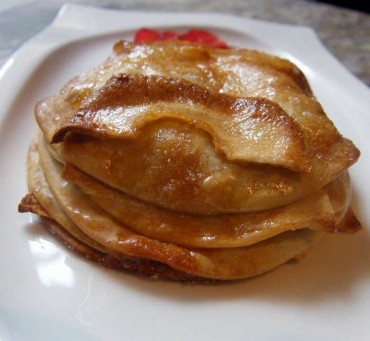 Milhojas de manzana súper fácil, receta paso a paso