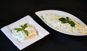 Salsa fresca de hierbas, dip, salsa o acompañamiento, receta paso a paso.