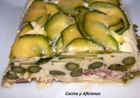 pastel de esparragos, calabacin y jamon iberico (3)
