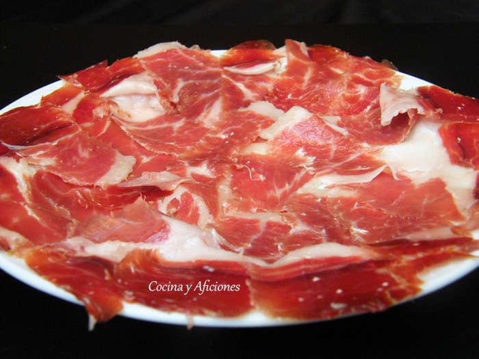 plato de jamon iberico