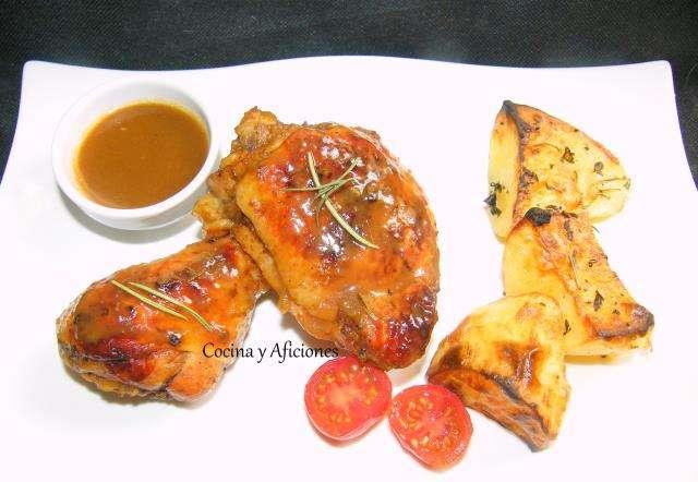 Pollo sencillo en adobo de cítricos, receta paso a paso.