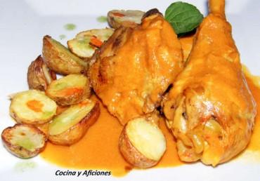 """Pollo de payés en """"asado"""", receta"""