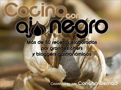 portada cocina con ajo negro