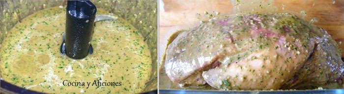 preparando la marinada