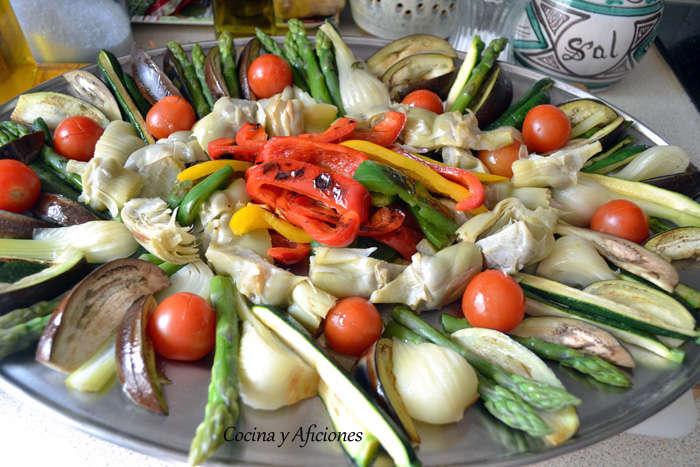 preparando las verduras