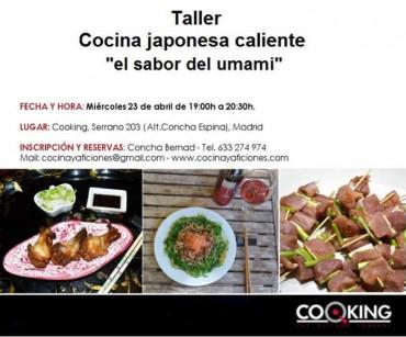 Taller de Cocina japonesa caliente, ¡os espero!!