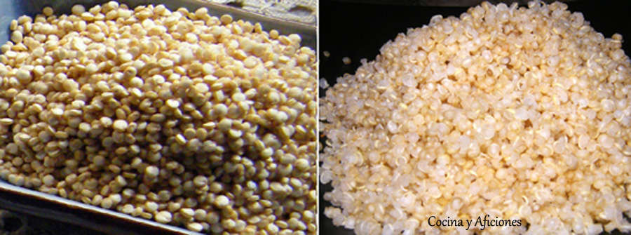 quinoa al matural y cocida