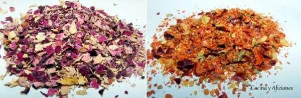 rosa y guindilla molidas