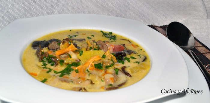 sopa de hongos y setas 2