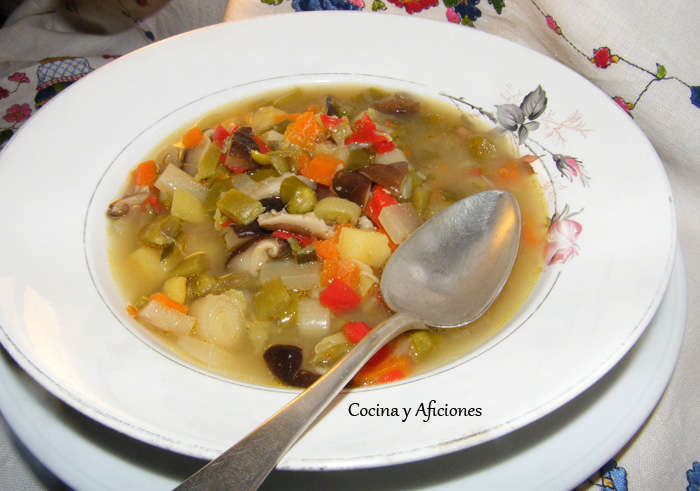 Sopa de verduras diferente, receta paso a paso