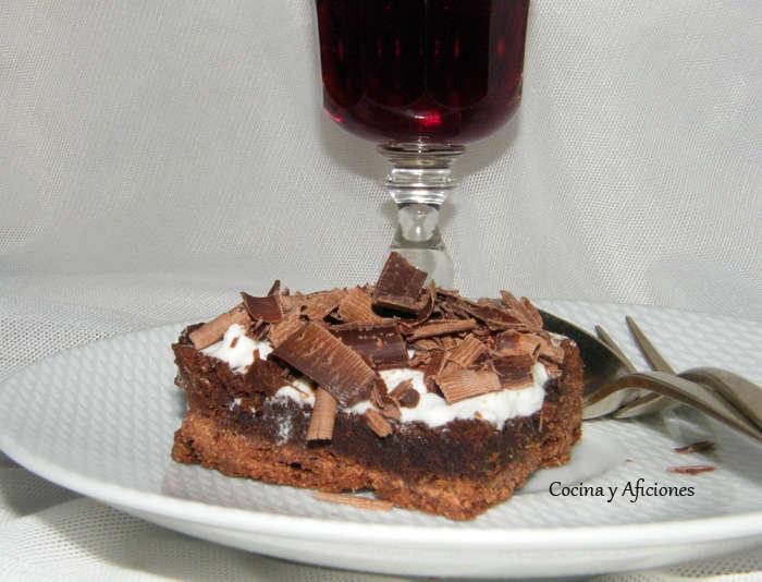 Tarta de barros del Misisipí o chocolate en estado puro, receta paso a paso