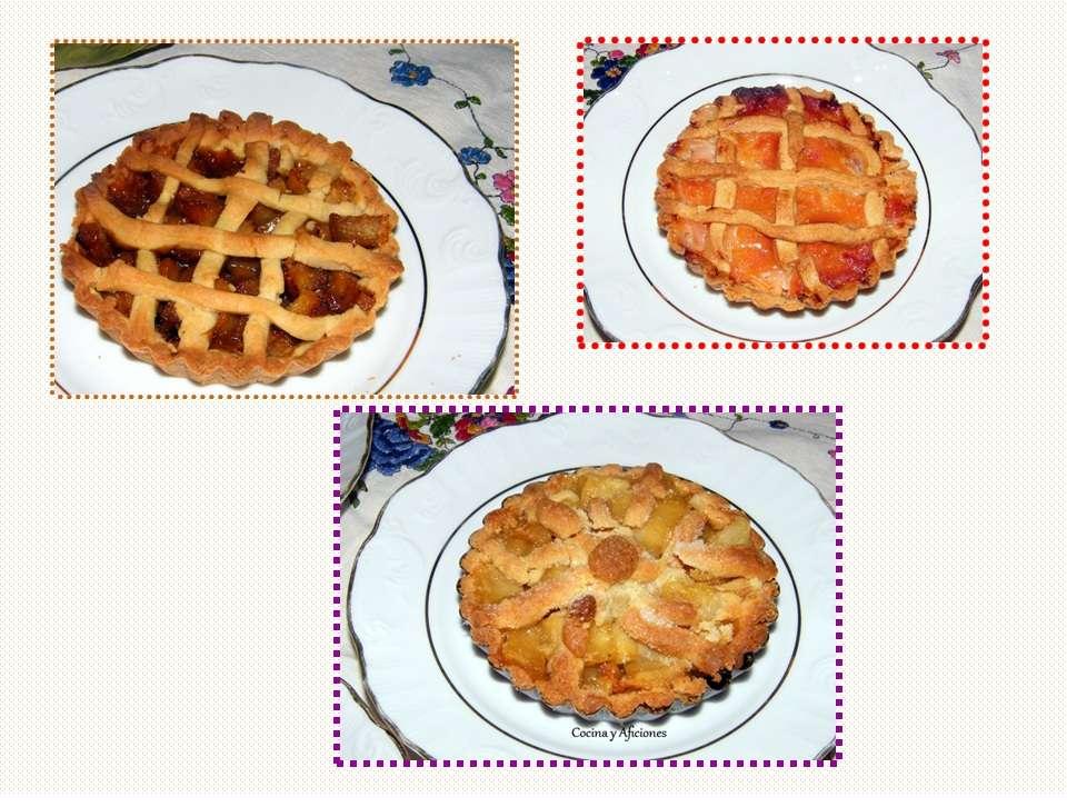 Tartitas de frutas (kaki persimón, membrillo y manzana), receta paso a paso