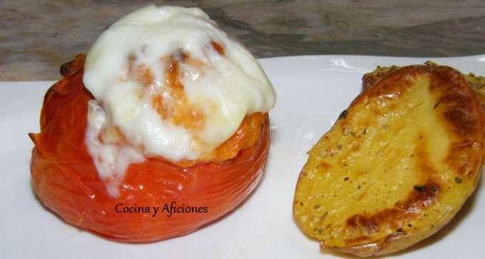 tomate relleno de farsa de pan 2