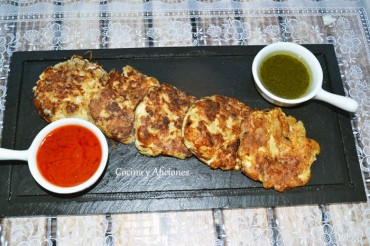 Tortitas de patata y queso, receta paso a paso.