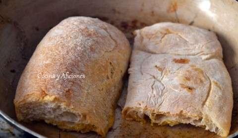 tostando el pan