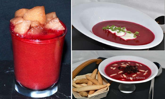 Gazpacho con remolacha, receta paso a paso.